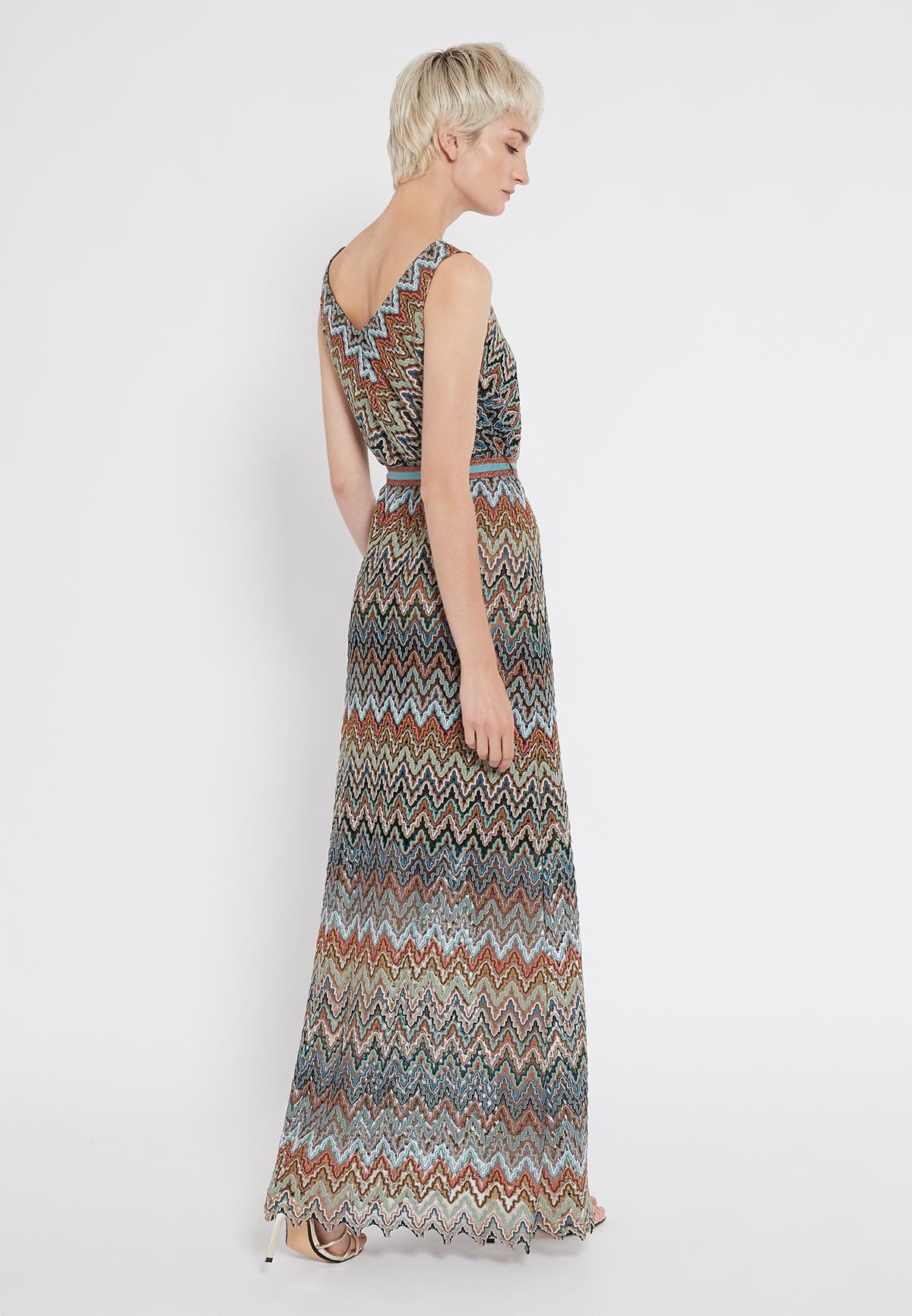 Rear view of Ana Alcazar Maxi Dress Sosinka  worn by model