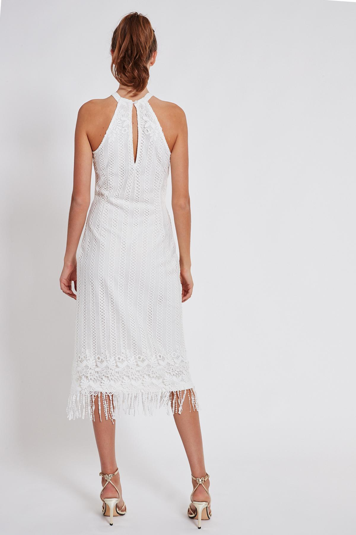 Rückansicht von Ana Alcazar Midi Kleid Tadila  angezogen an Model