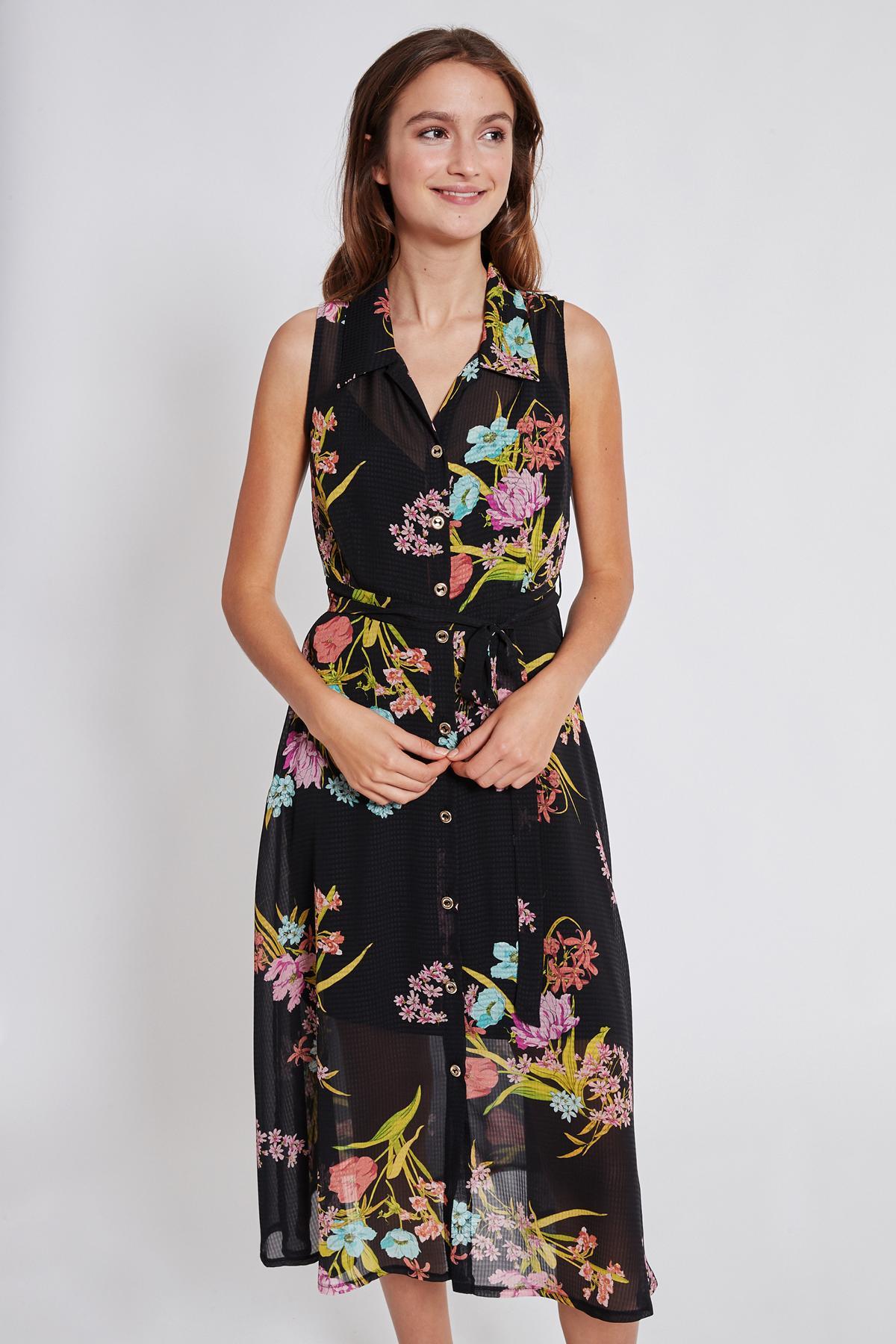 Rückansicht von Ana Alcazar Blusen Kleid Tamisy  angezogen an Model