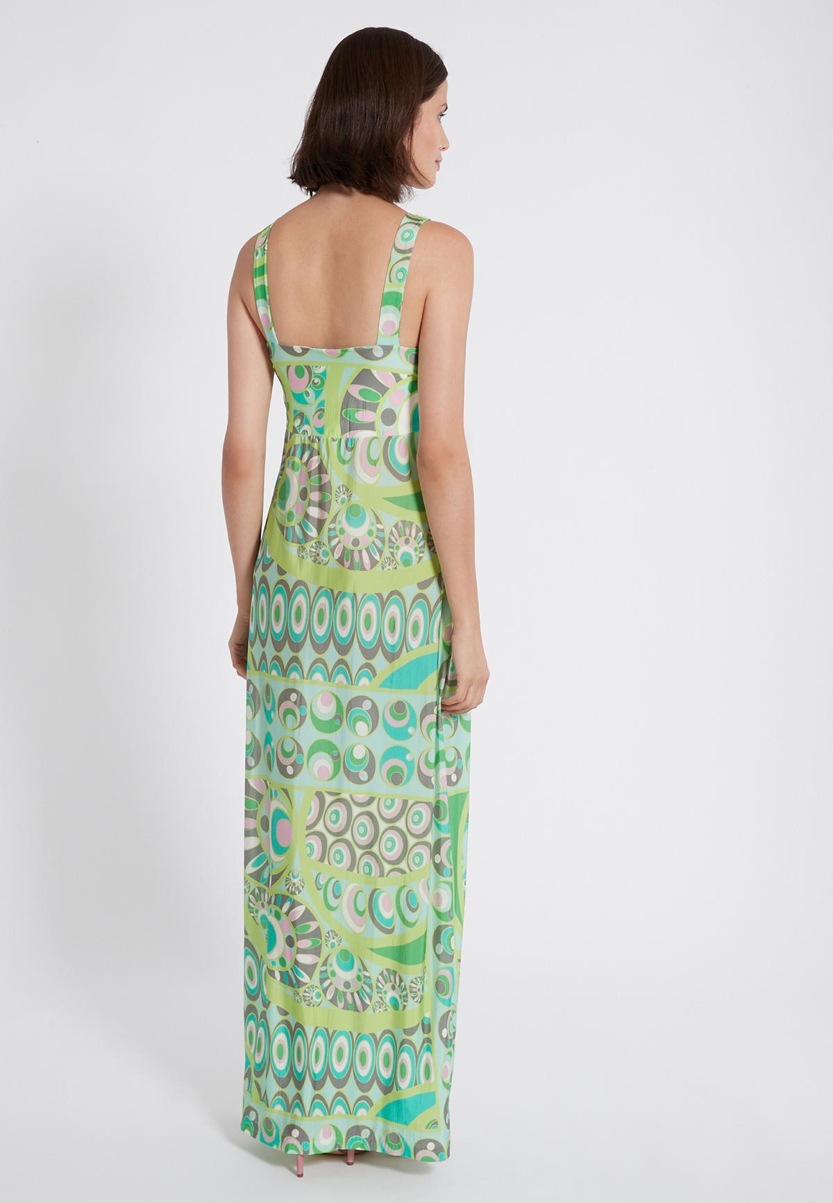 Rückansicht von Ana Alcazar Maxi Kleid Teowe  angezogen an Model