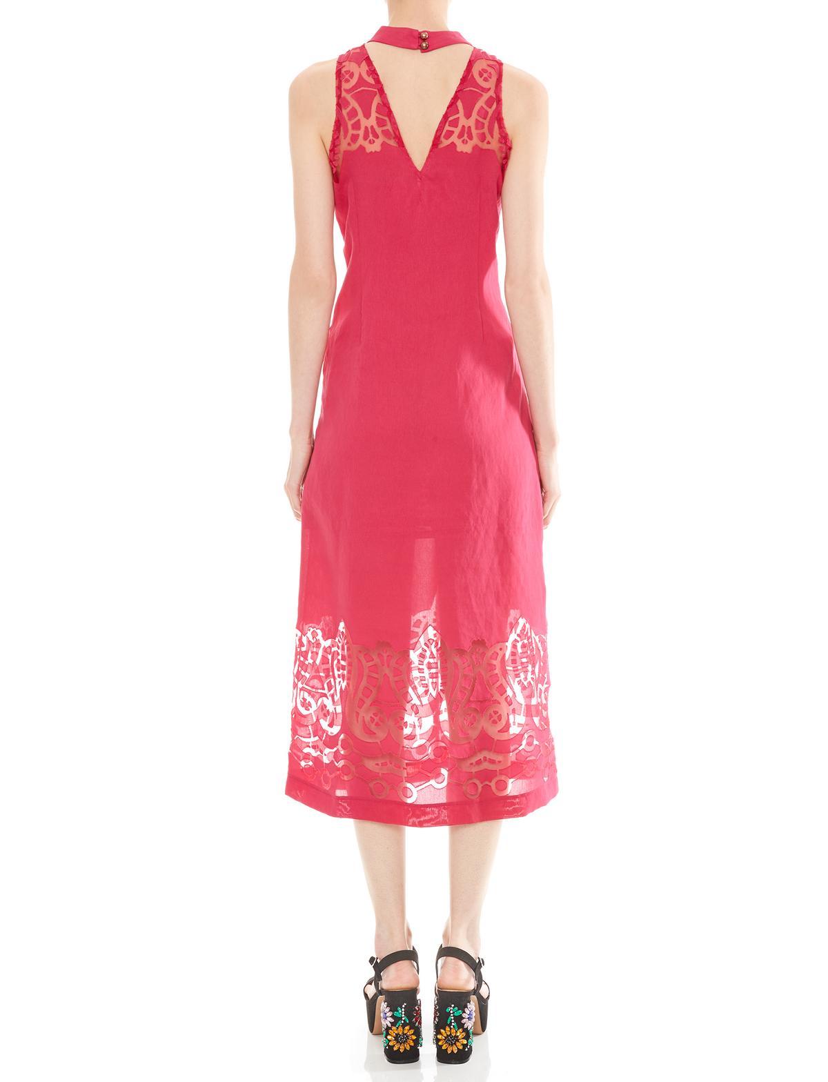 Rückansicht von Ana Alcazar Midi Kleid Massoles  angezogen an Model