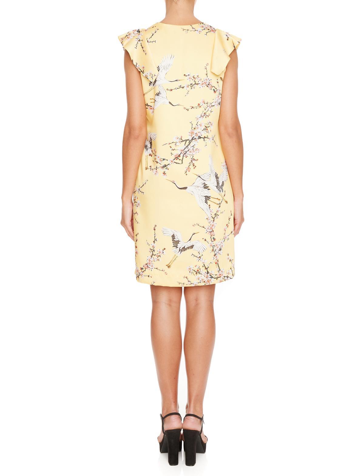 Rückansicht von Ana Alcazar A-Linien Kleid Mirany  angezogen an Model