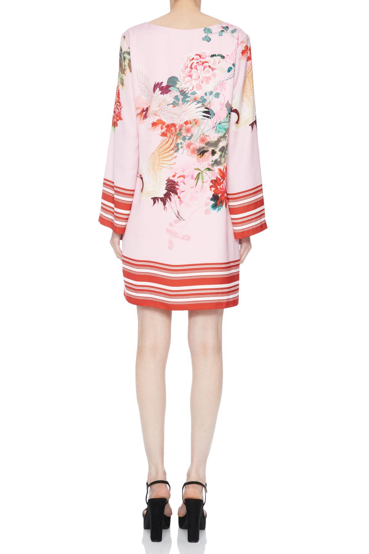 Rear view of Ana Alcazar Tunic Dress Neya  worn by model