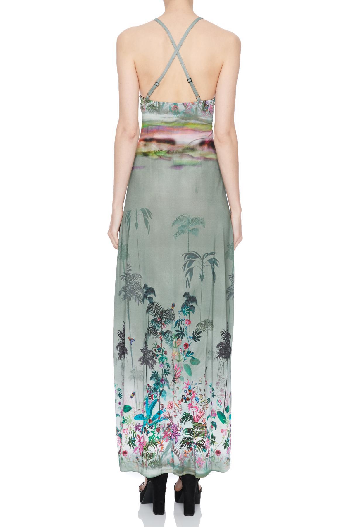 Rear view of Ana Alcazar Maxi Dress Nizany  worn by model