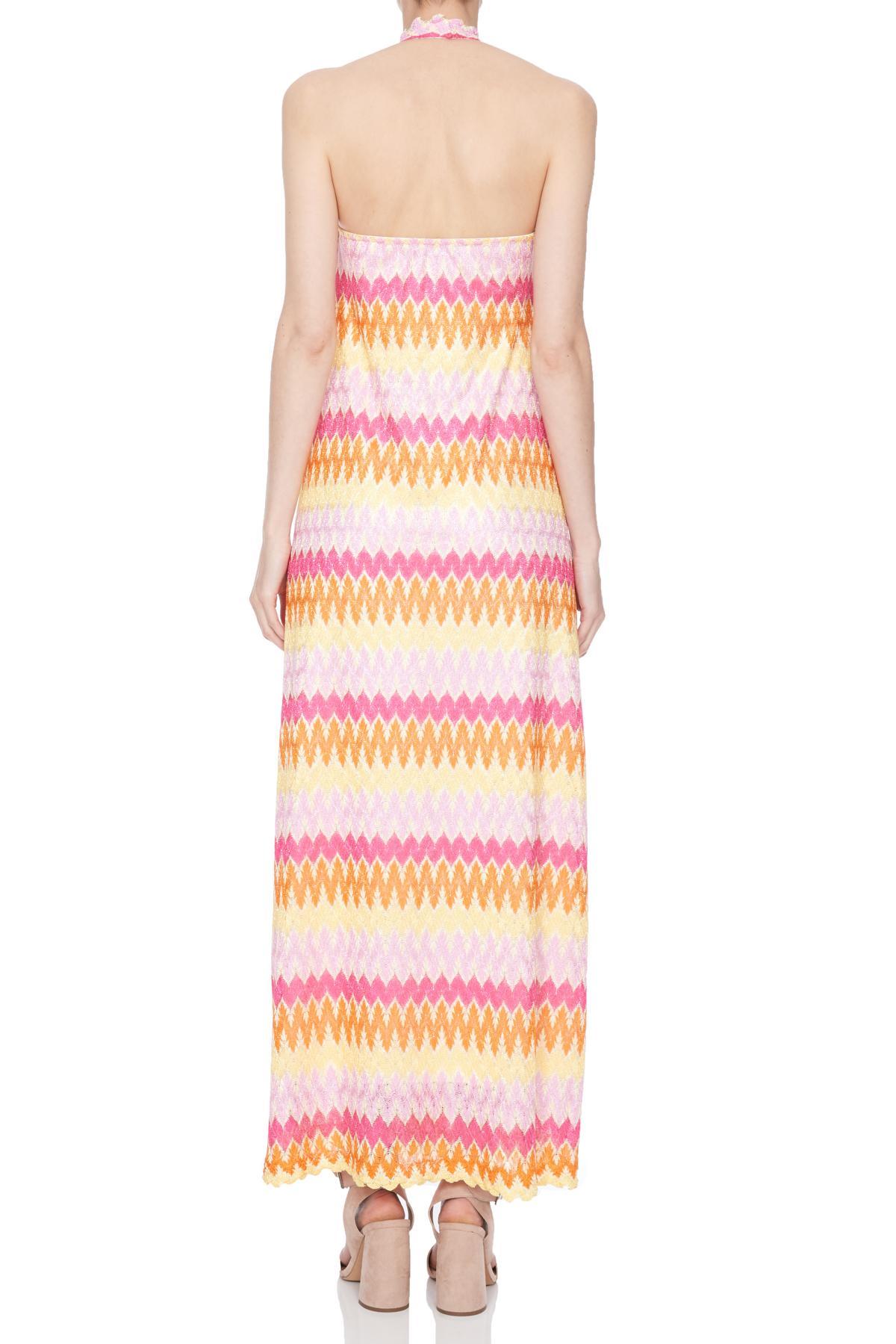 Rear view of Ana Alcazar Maxi Dress Nasmey  worn by model