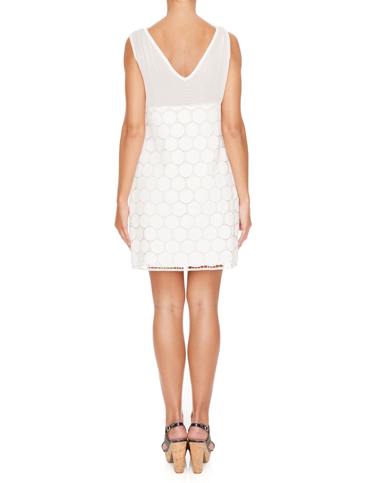 Rückansicht von Ana Alcazar A-Linien Kleid Maiveas  angezogen an Model