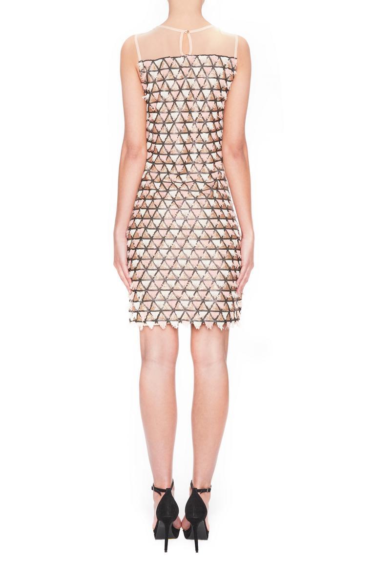 Rückansicht von Ana Alcazar Black Label A-Linien Kleid Square  angezogen an Model