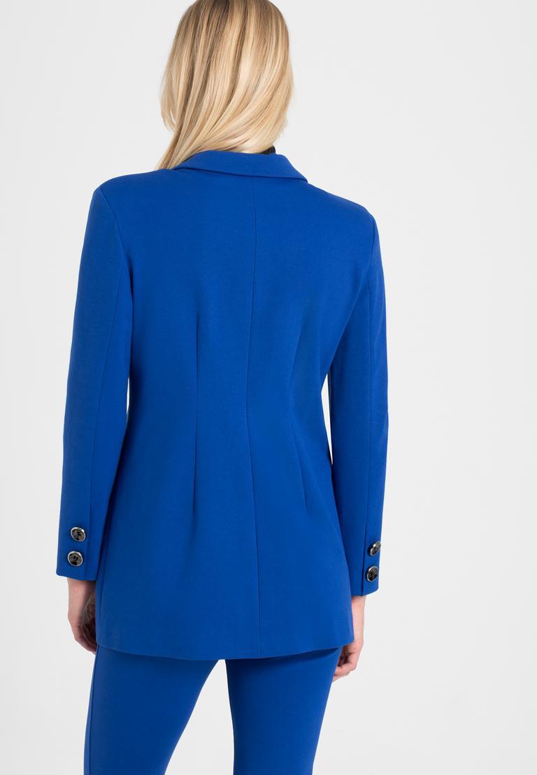 Rückansicht von Ana Alcazar Blazer Onide Blau  angezogen an Model