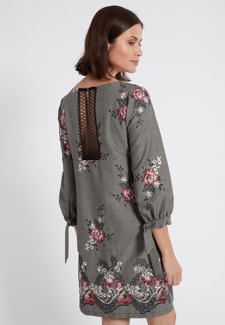 Rear view of Ana Alcazar A-Shaped Dress Oprawe  worn by model
