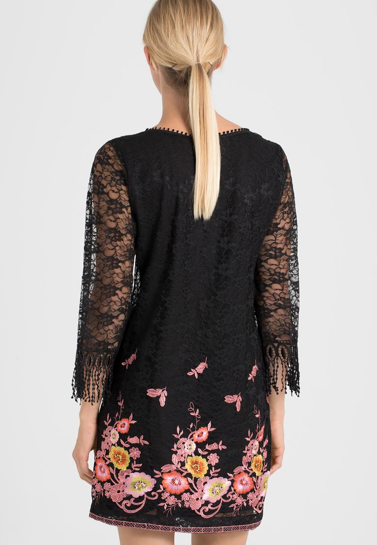 Rückansicht von Ana Alcazar A-Linien-Kleid Obany  angezogen an Model