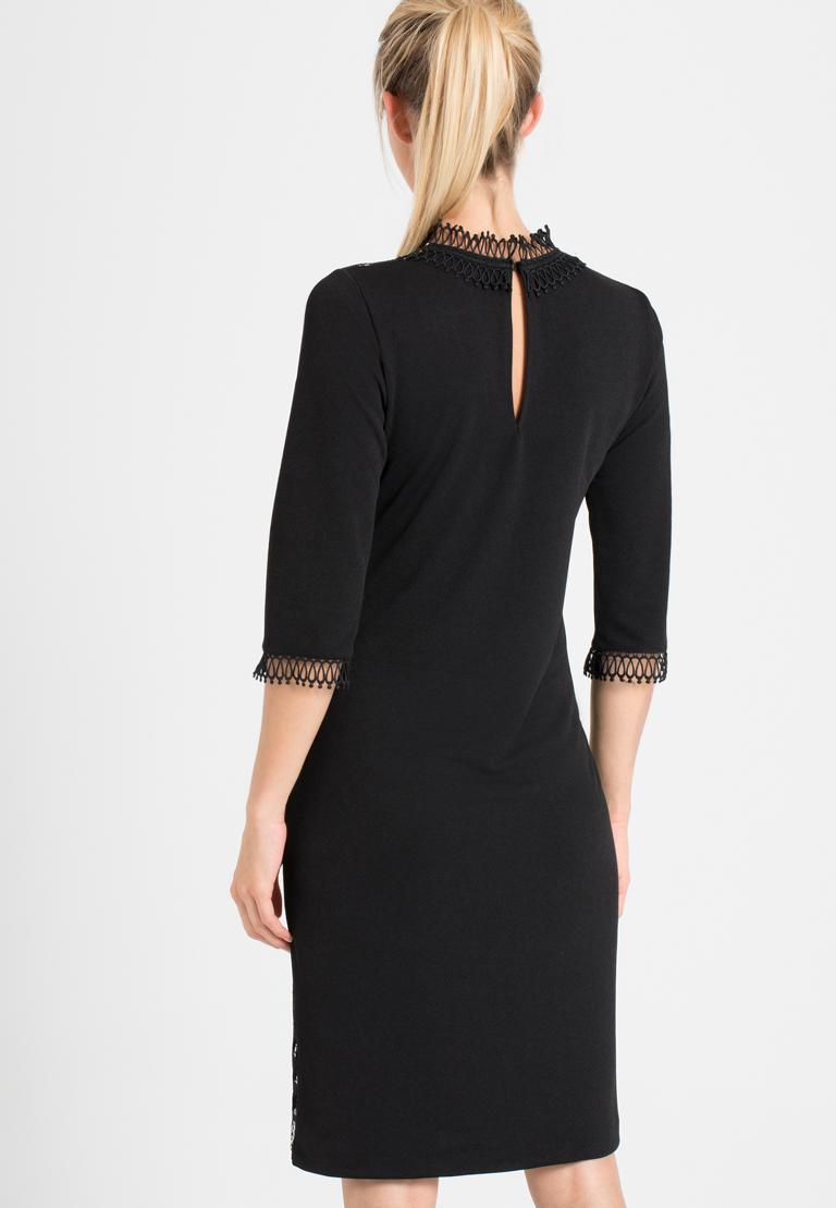 Rear view of Ana Alcazar Sleeved Dress Ohanna  worn by model