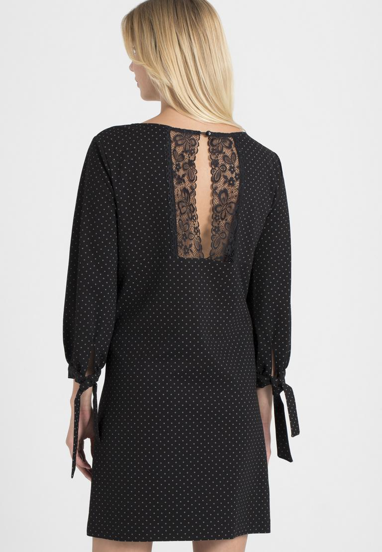 Rückansicht von Ana Alcazar A-Linien-Kleid Pandite Punkte  angezogen an Model