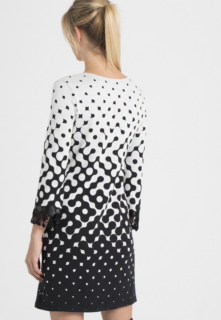 Rückansicht von Ana Alcazar A-Linien-Kleid Prulana  angezogen an Model