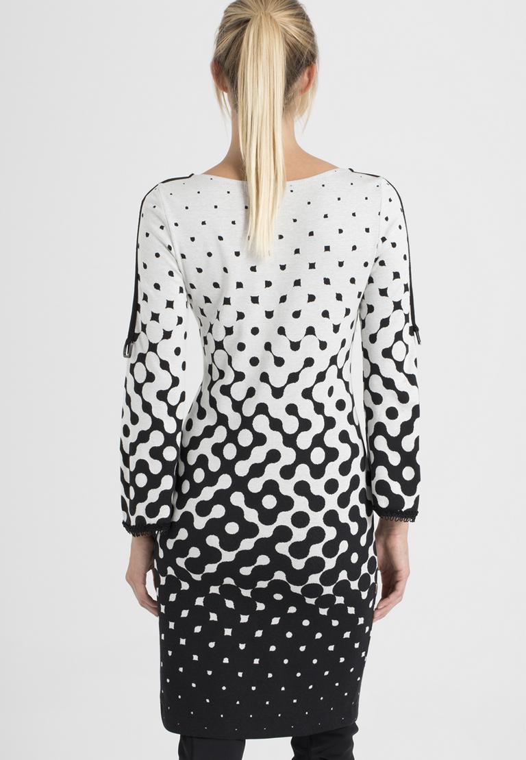 Rear view of Ana Alcazar Deco Dress Prulisy  worn by model