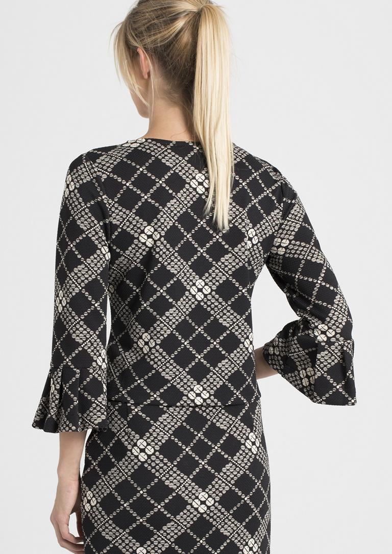 Rückansicht von Ana Alcazar Shirt Prajka  angezogen an Model