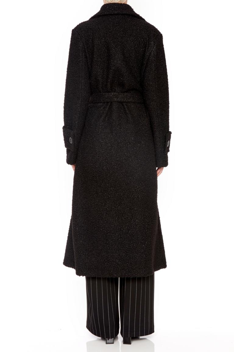 Detailed view of Ana Alcazar Maxi Coat Oneya White