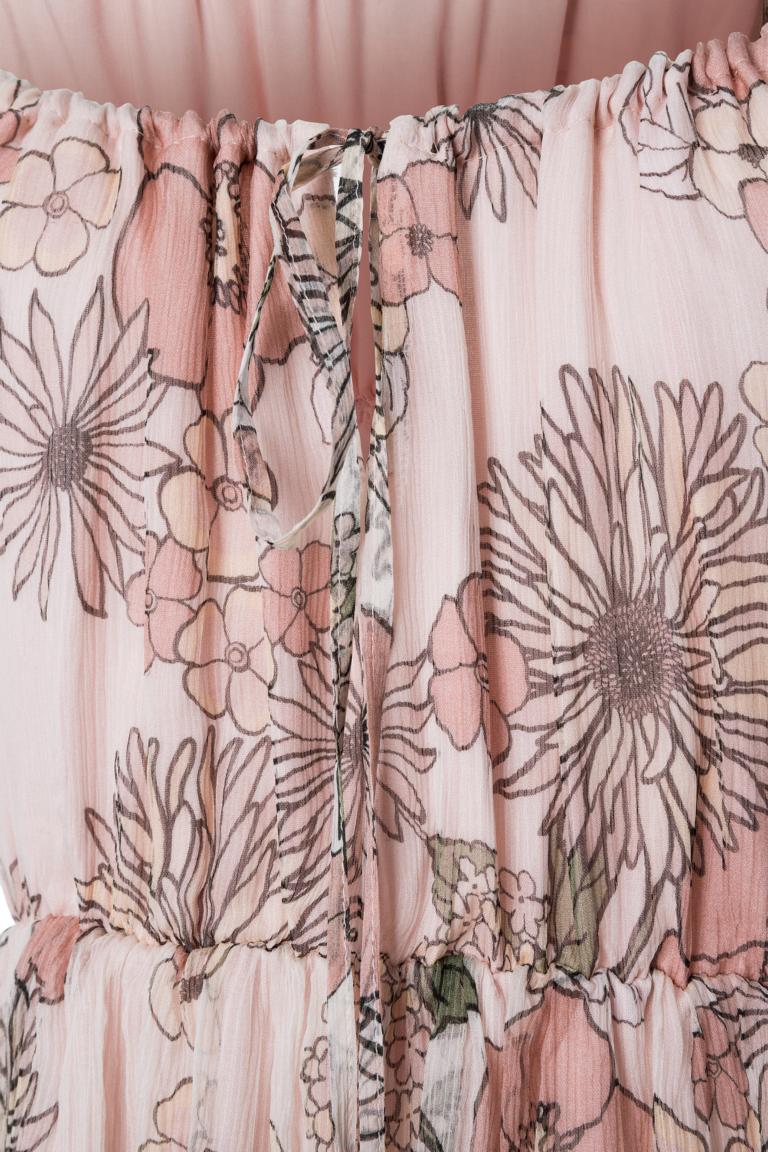 Detailansicht von Ana Alcazar Off-Shoulder Seidenkleid Nara