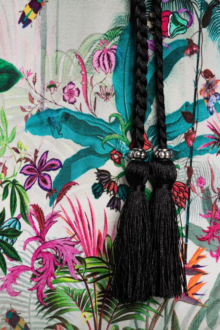 Detailansicht von Ana Alcazar Palmenprint Kleid Nizzys