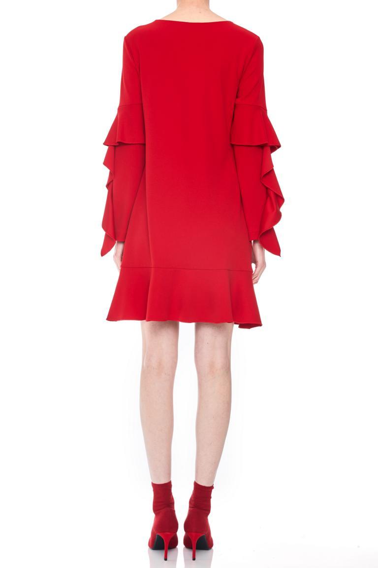 Detailansicht von Ana Alcazar Volantärmel-Kleid Philis Blau