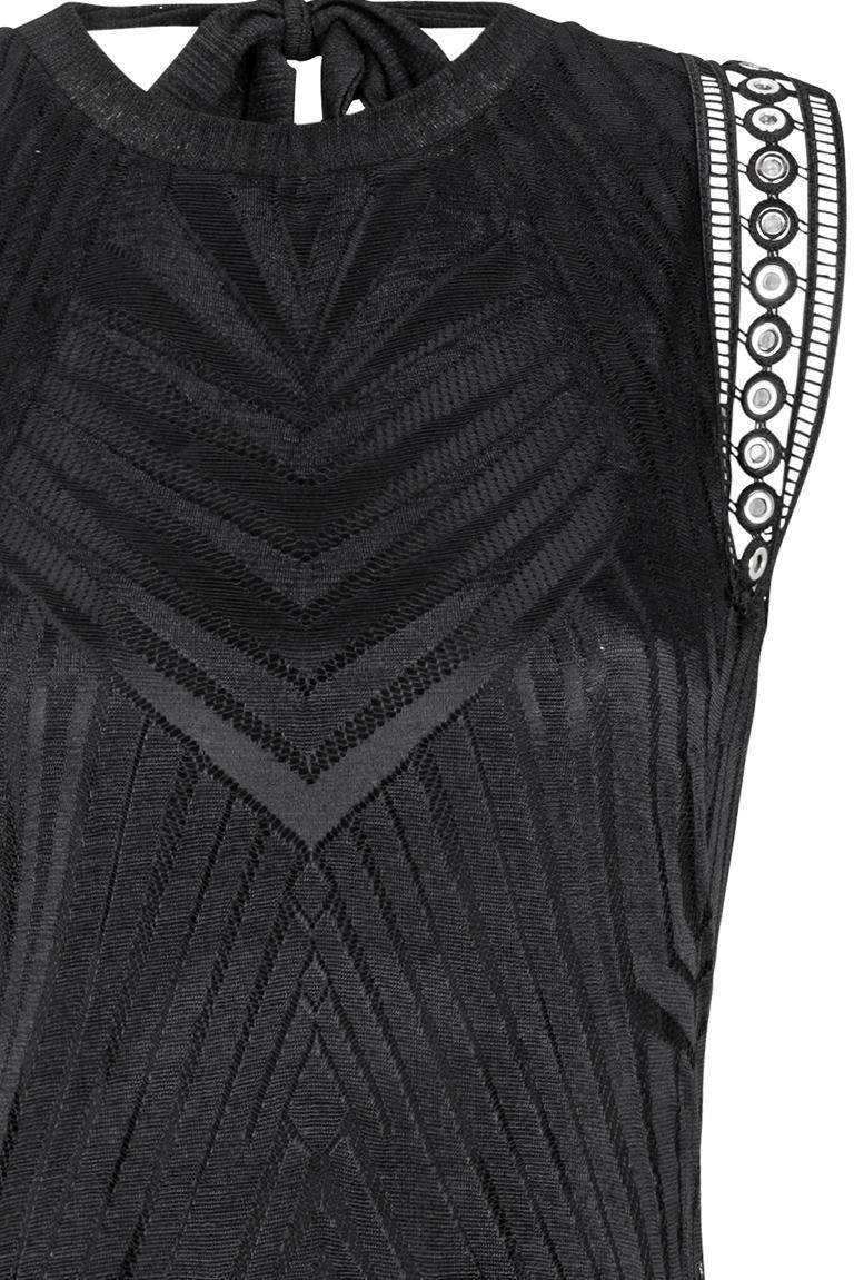 Detailed view of Ana Alcazar Maxi  Dress Black Felisas