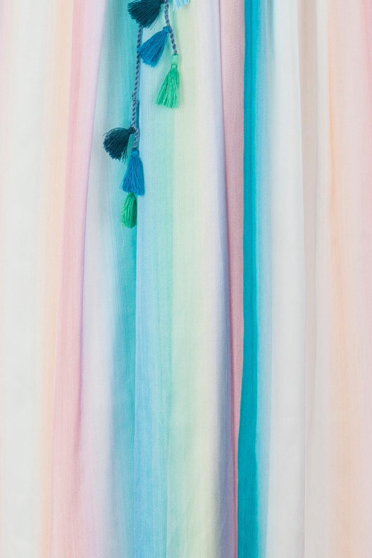 Detailansicht von Ana Alcazar Seiden Maxikleid Gisella
