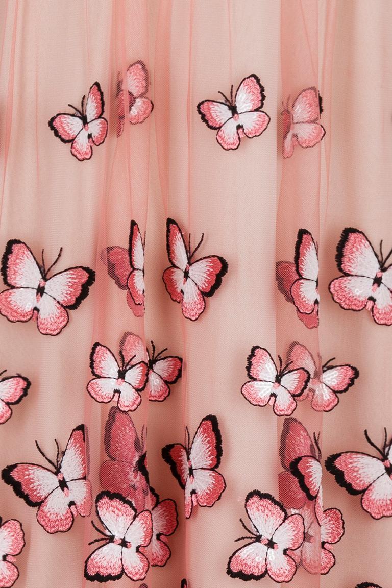 Detailansicht von Ana Alcazar Black Label Cocktailkleid Butterfly