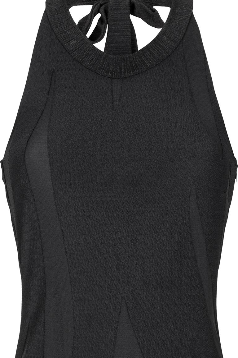 Detailed view of Ana Alcazar Maxi Dress Black Faleara