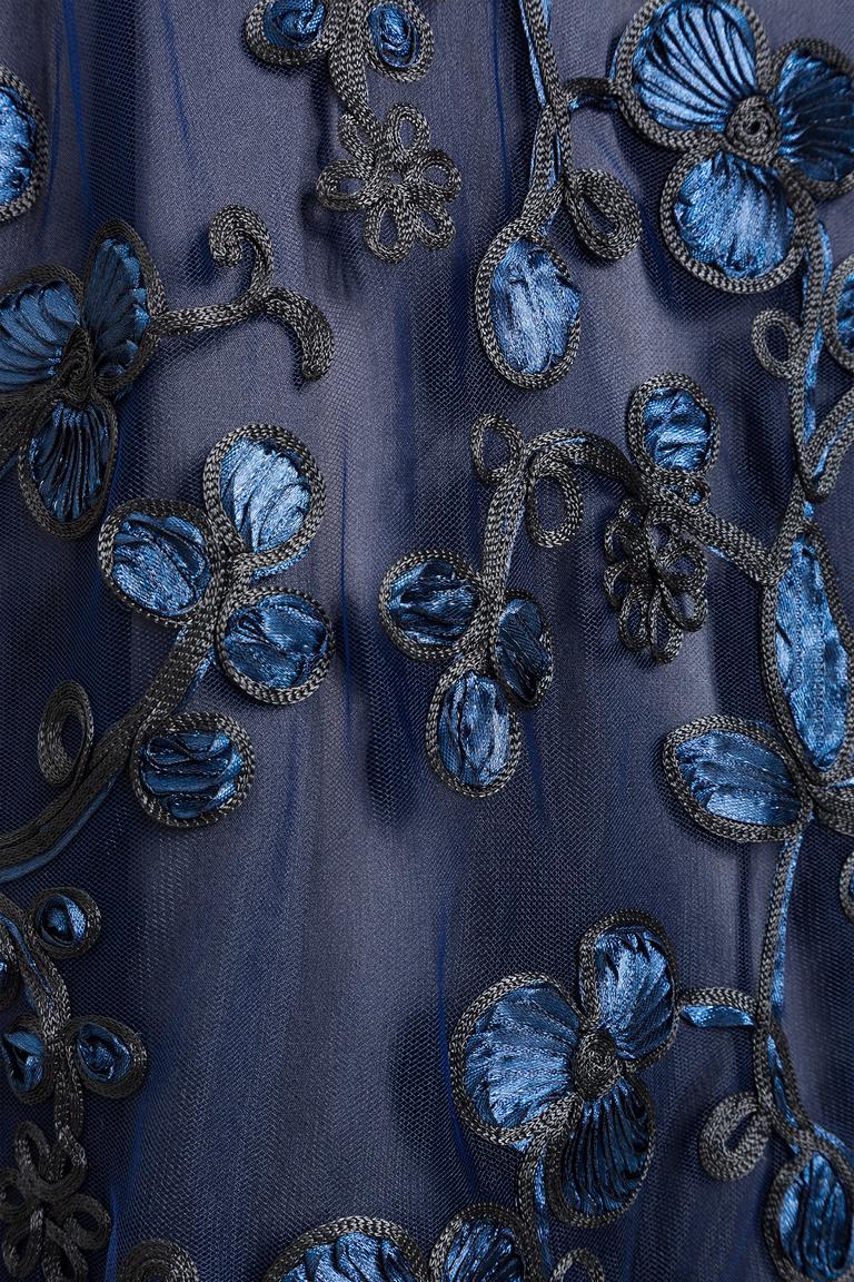 Detailansicht von Ana Alcazar Black Label Midi Spitzenkleid Juvendis