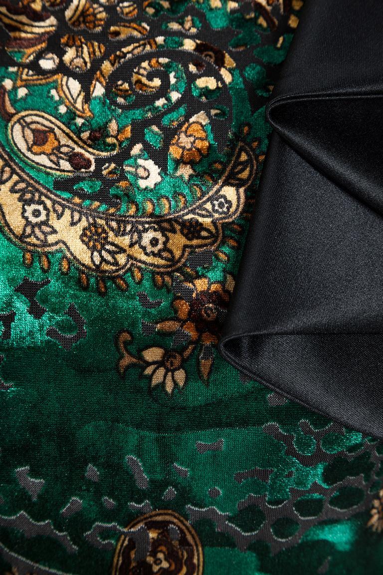 Detailansicht von Ana Alcazar Samt Volant Abendkleid Lajes