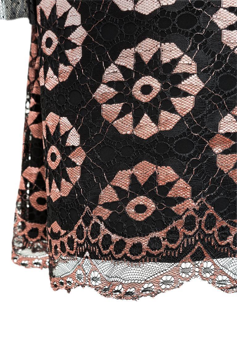 Detailansicht von Ana Alcazar Spitzen Cocktailkleid Leonesty
