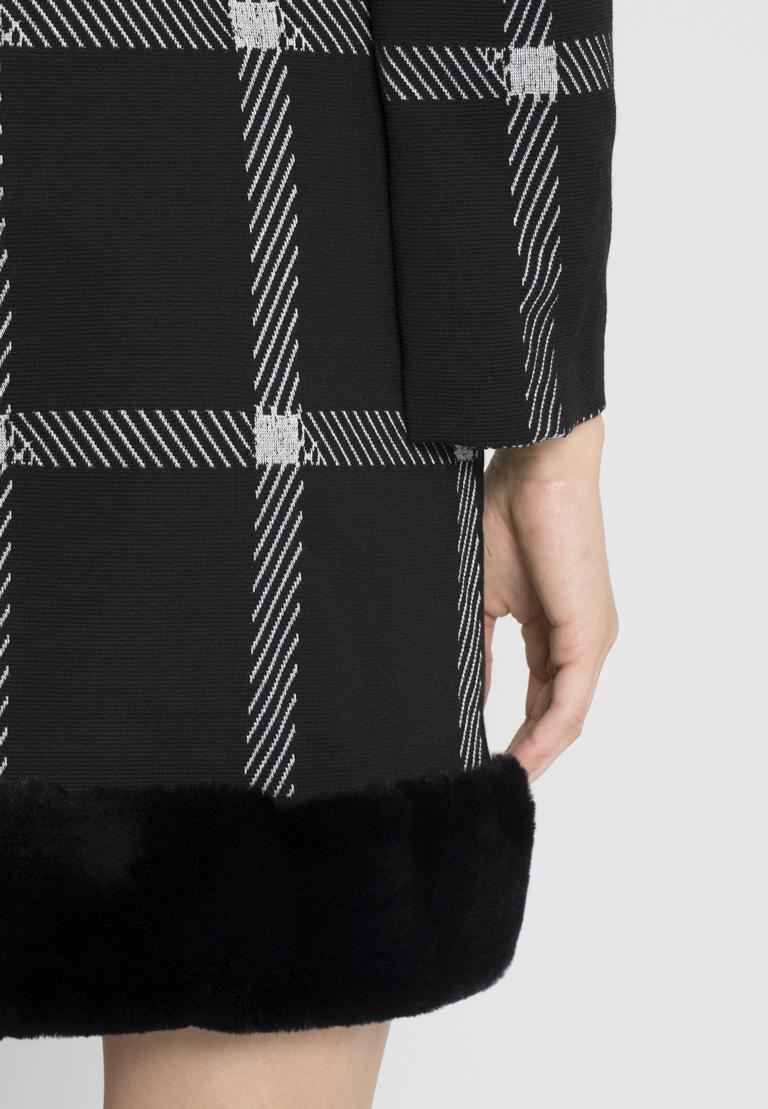 Detailansicht von Ana Alcazar Fake Fur Kleid Pramia Schwarz