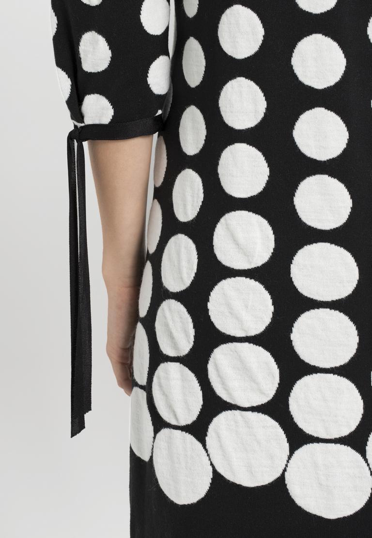 Detailansicht von Ana Alcazar Ärmel Kleid  Palmara Schwarz-Weiß
