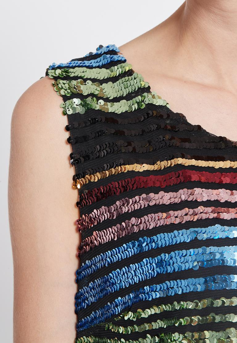 Detailansicht von Ana Alcazar Black Label Pailletten Kleid Rubys