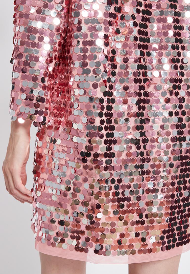 Detailed view of Ana Alcazar Glam Sequin Dress Rhetas Rose