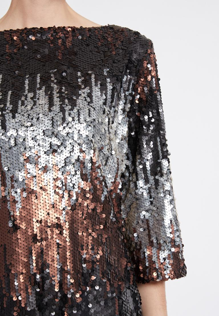 Detailed view of Ana Alcazar Sequin Dress Rimas