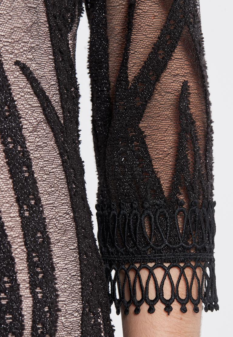 Detailed view of Ana Alcaza Lace Dress Ranjea