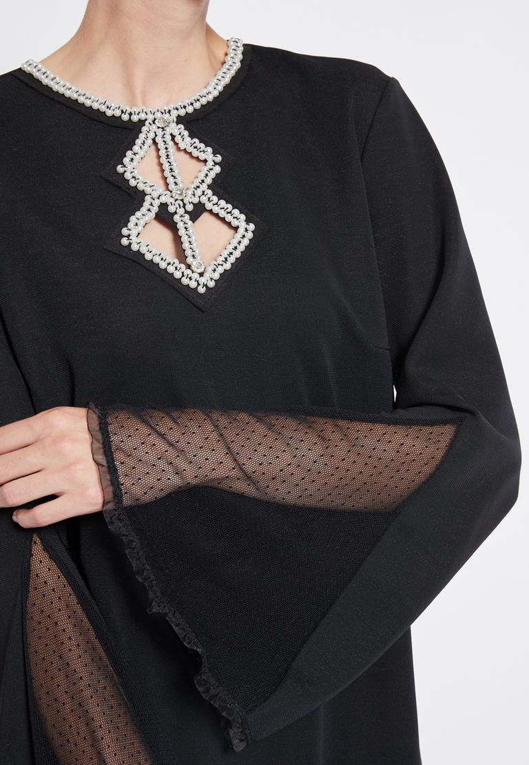Detailansicht von Ana Alcazar Perlen Kleid Revitys