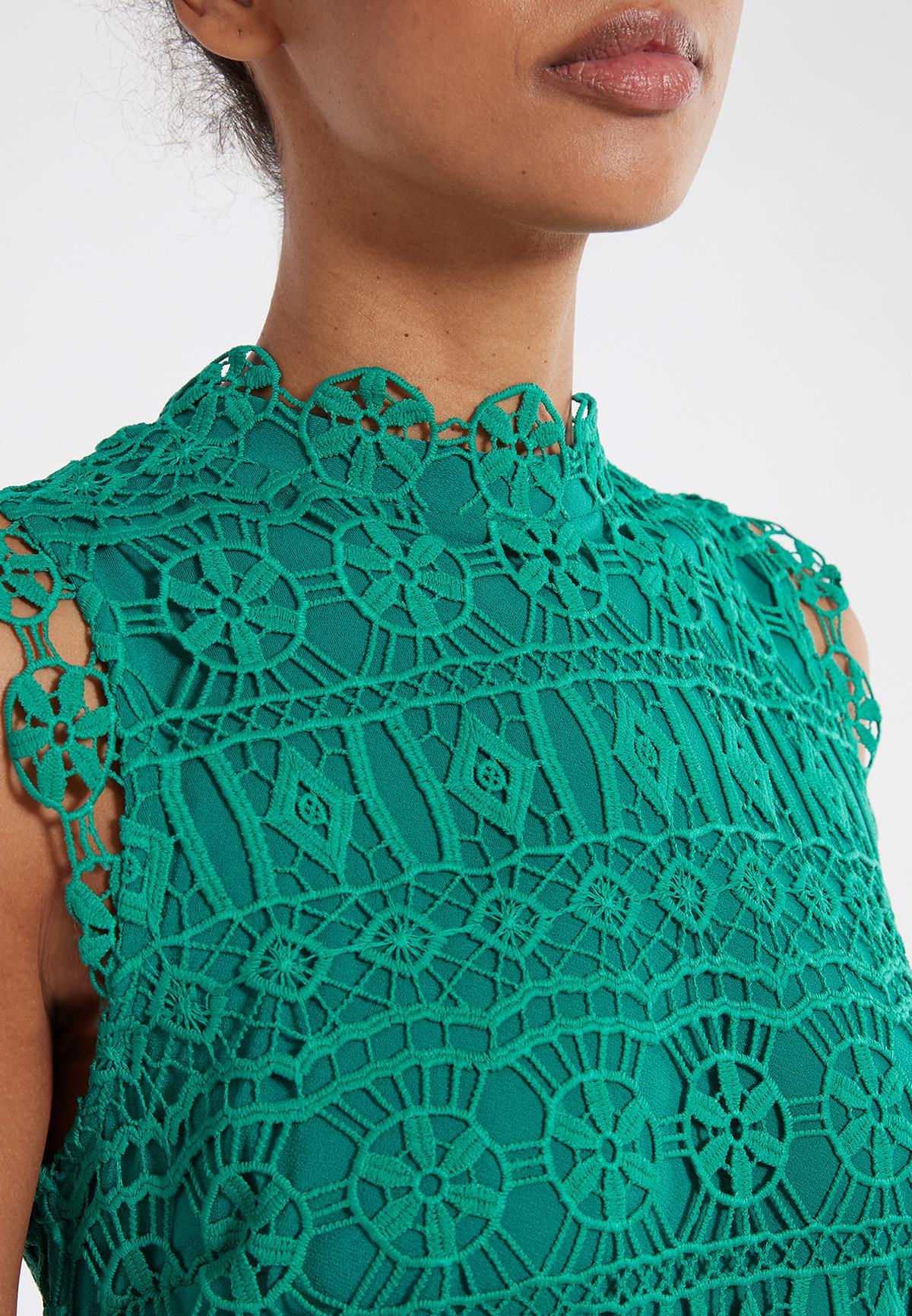 Detailansicht von Ana Alcazar Spitzenkleid Saimea Grün