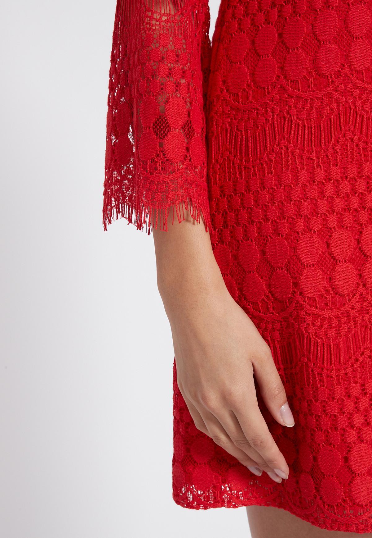 Detailansicht von Ana Alcazar Tunikakleid Sanicos Rot