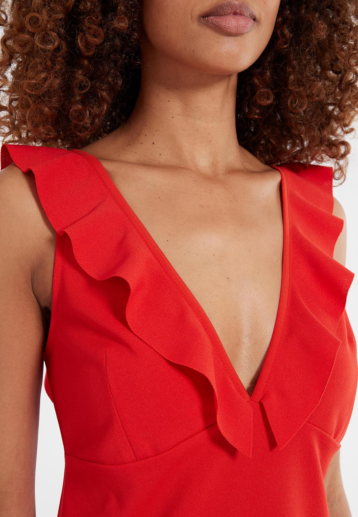 Detailansicht von Ana Alcazar Flamenco Kleid Sawona Red