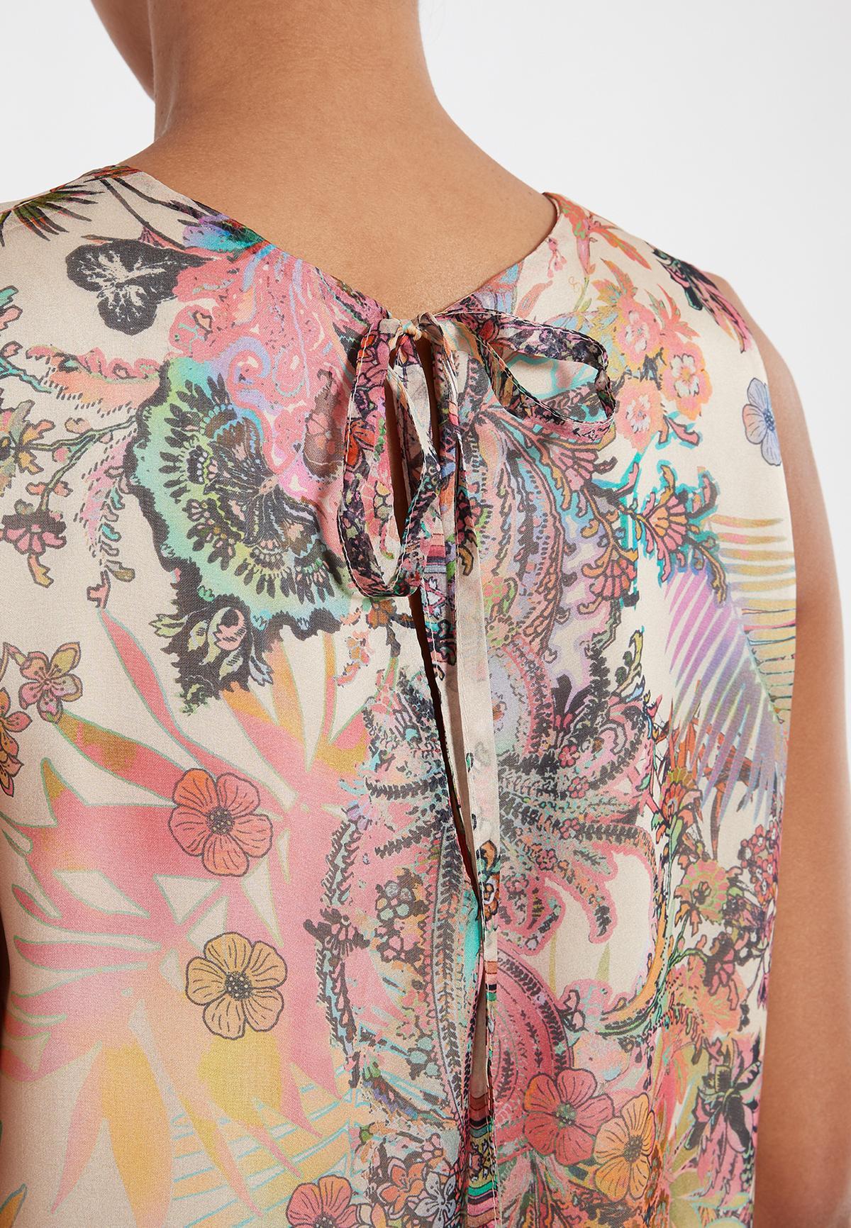 Detailed view of Ana Alcazar A-Shaped Dress Sekato Beige