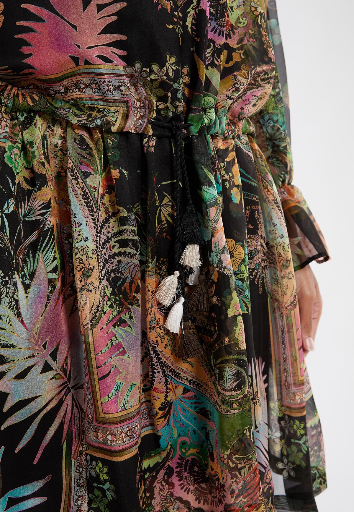Detailansicht von Ana Alcazar Langarmkleid Sekomy Schwarz