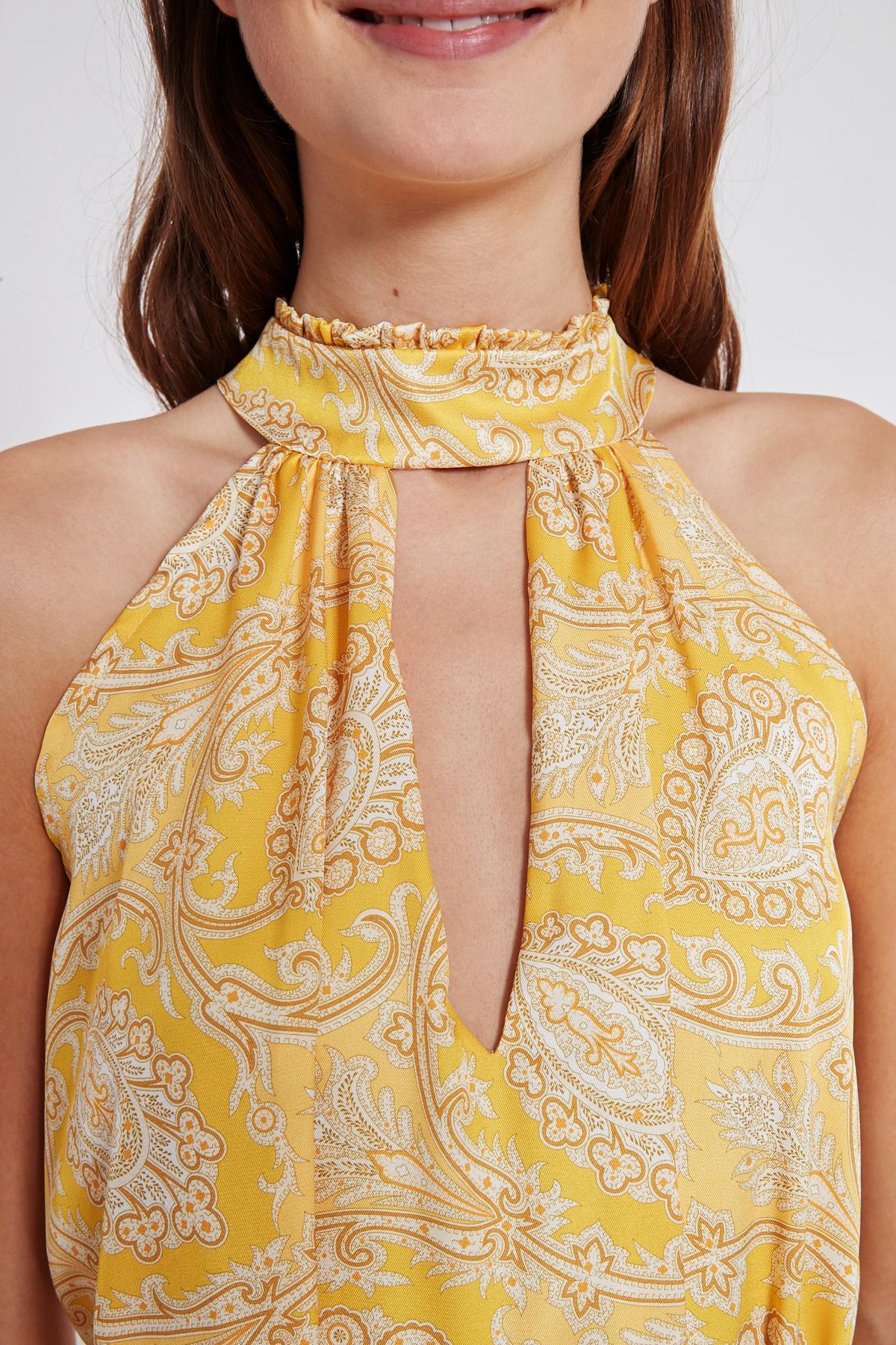 Detailansicht von Ana Alcazar Maxi Kleid Tefamy Gelb