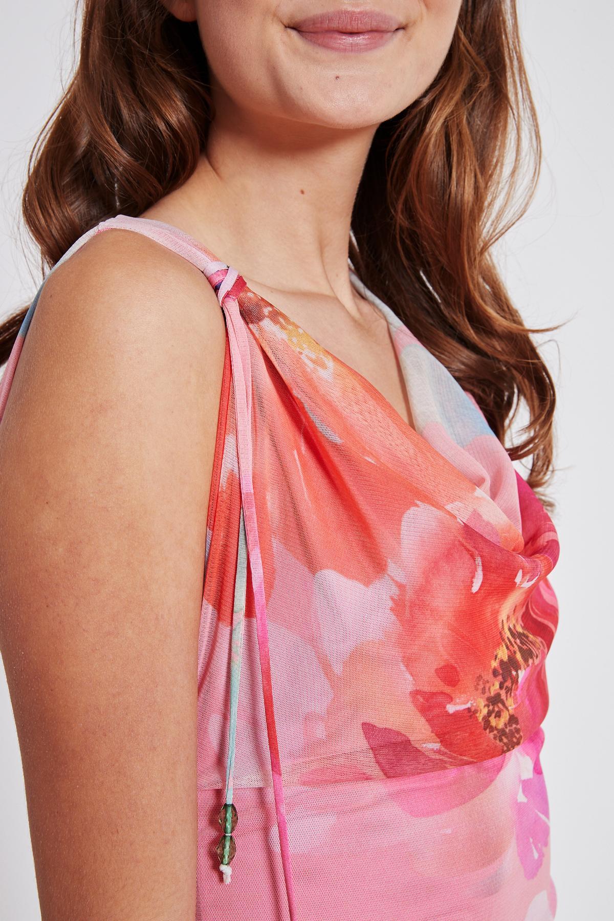 Detailansicht von Ana Alcazar Wasserfall Kleid Teginy