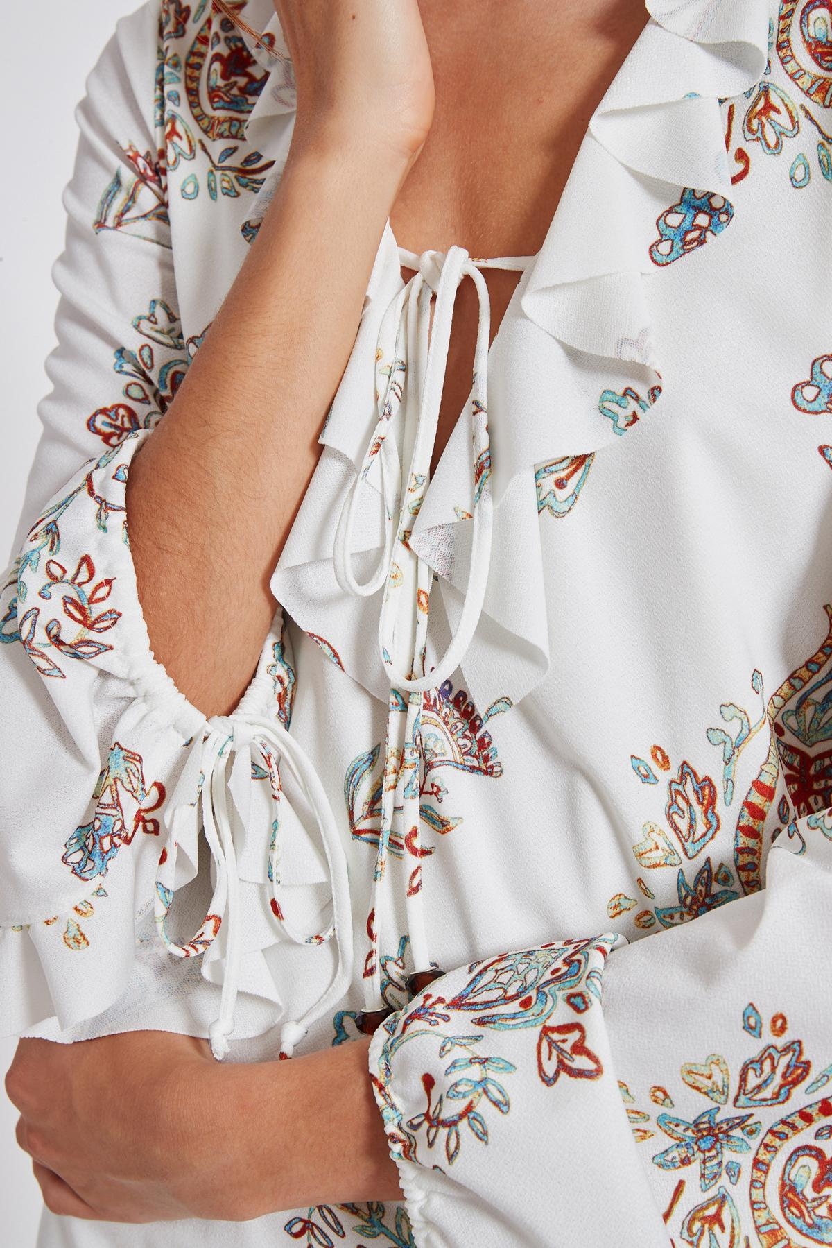 Detailansicht von Ana Alcazar Rüschen Kleid Tesnury