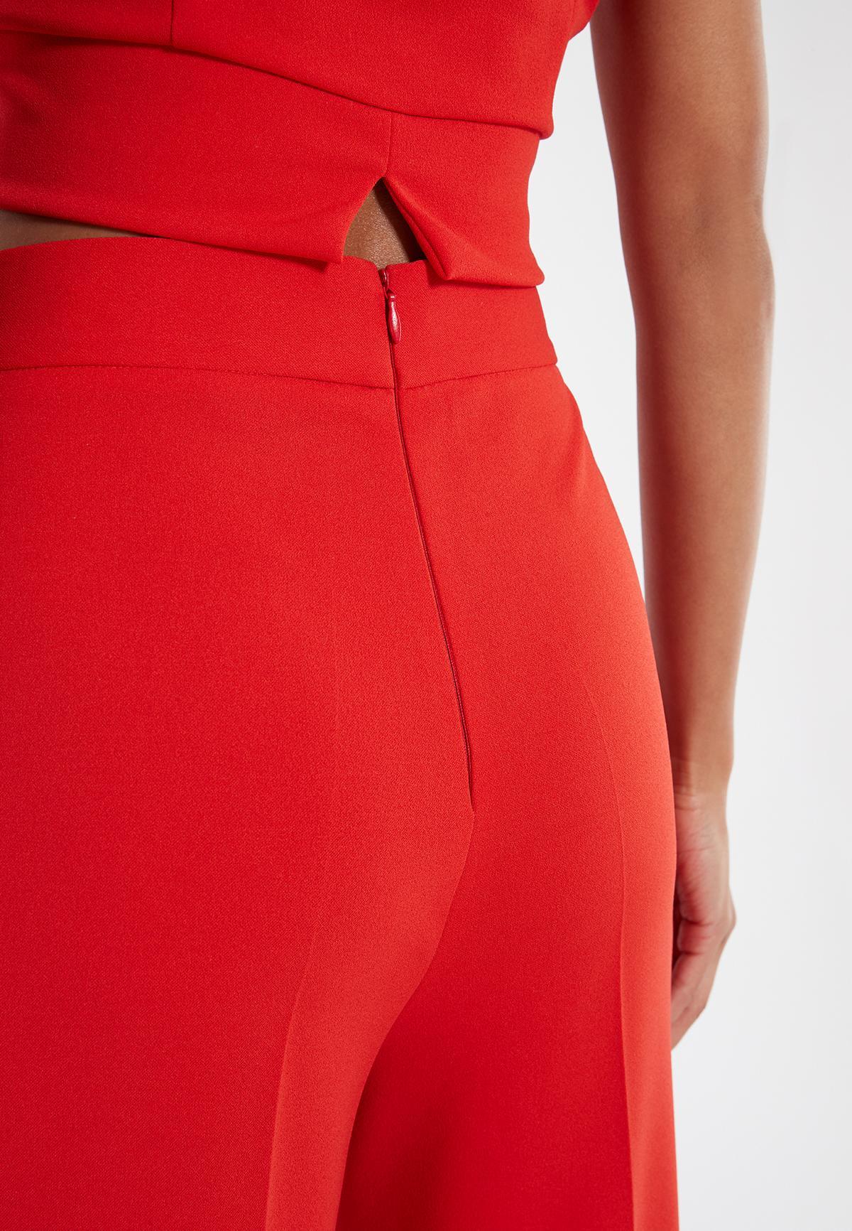 Detailansicht von Ana Alcazar Weite Hose Sazore Rot