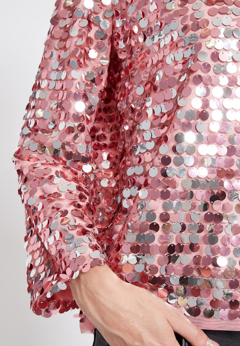 Detailansicht von Ana Alcazar Glam Pailletten Top Rhety Rose