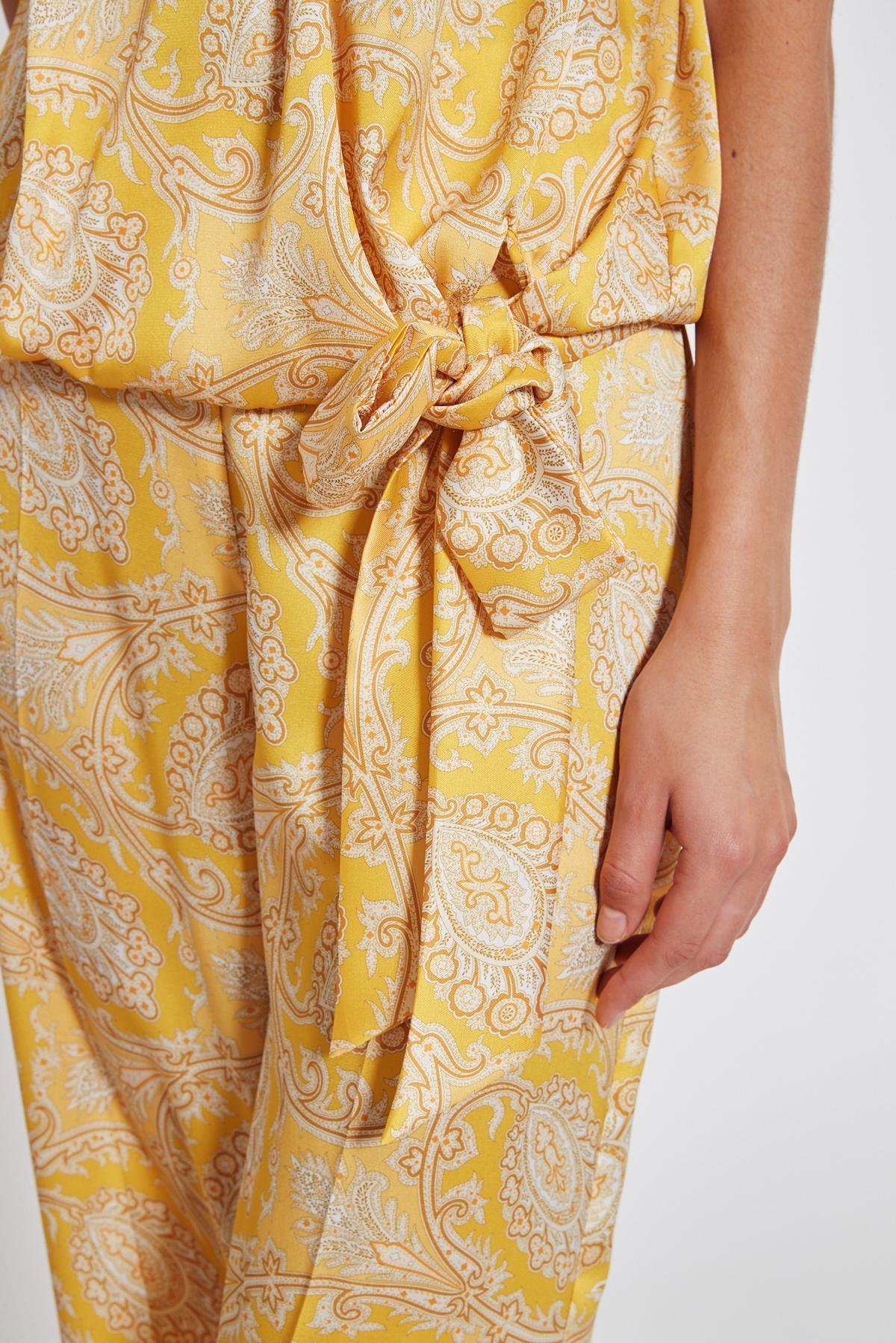 Detailansicht von Ana Alcazar Paisley Top Tefsinke Gelb