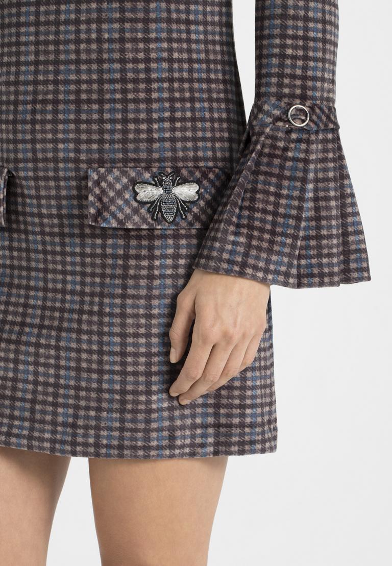 Detailansicht von Ana Alcazar Karo A-Linien-Kleid Ownika