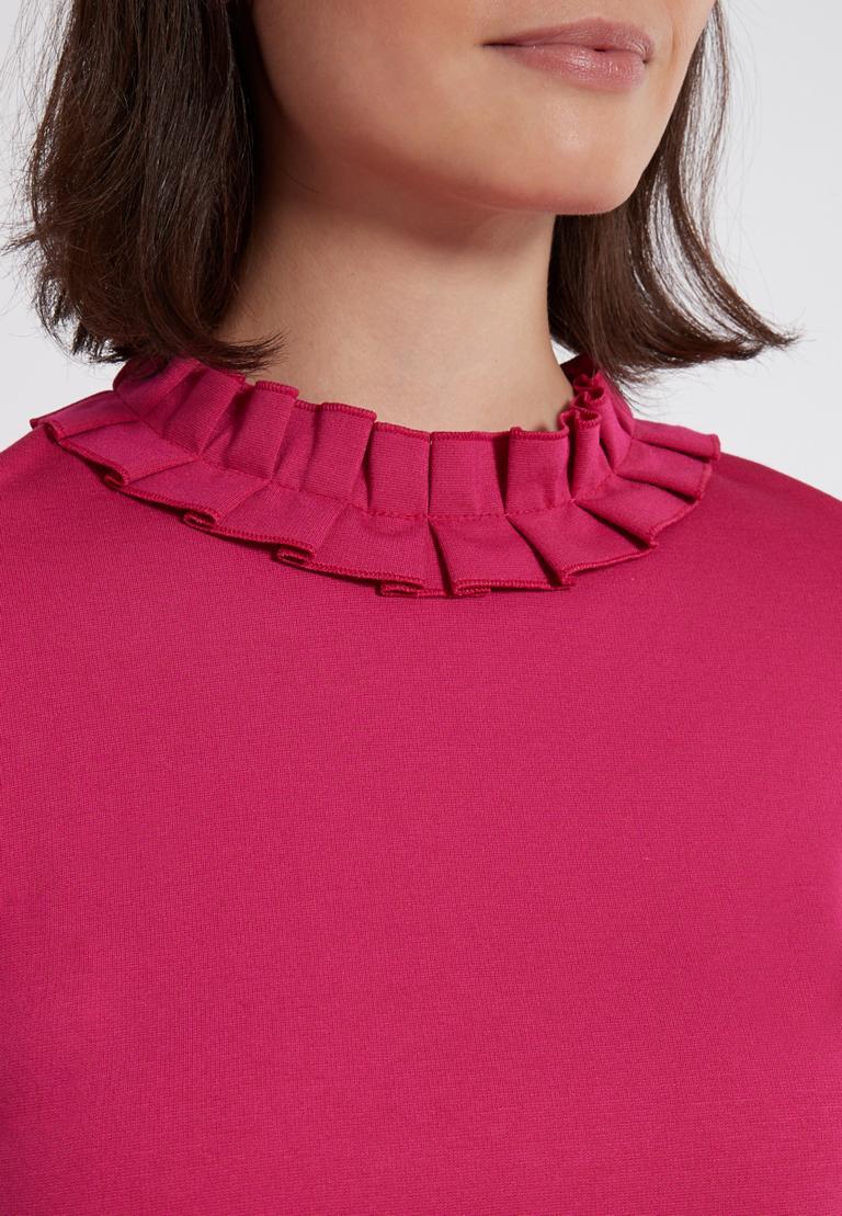 Detailansicht von Ana Alcazar Volantkleid Opalea Rot-Pink